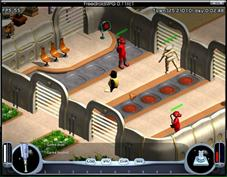 FreedroidRPG features a real time combat system with melee and ranged weapons, fairly similar to the proprietary game Diablo. There is an innovative system of programs that can be run in order to take control of enemy robots, alter their behavior, or improve one's characteristics. You can use over 50 different kinds of items and fight countless enemies on your way to your destiny. An advanced dialog system provides story background and immersive role playing situations.